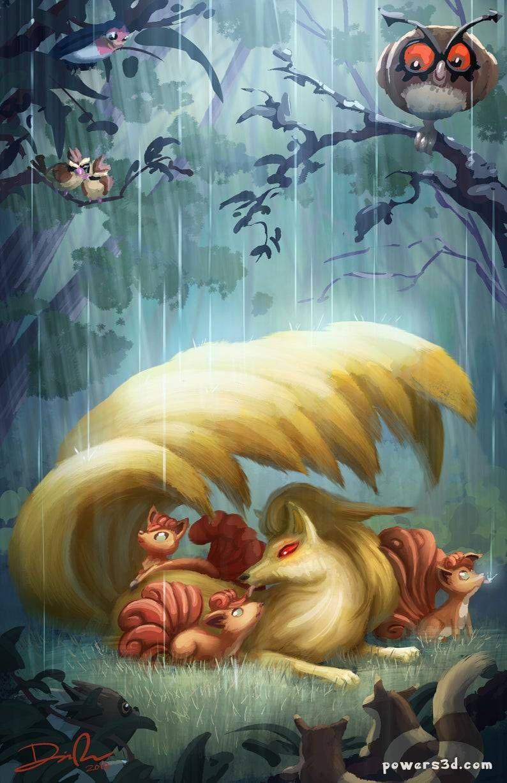 Pokemon Paintings made by Danielle Powersprints| instagram -