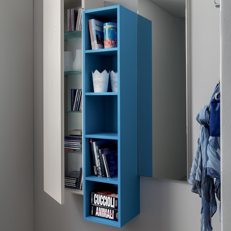 design minimalista Supporto per libro in legno naturale HYKKE 100/% Eco Moderno libro angolare in legno e lamiera Made in EU Libreria per scaffale