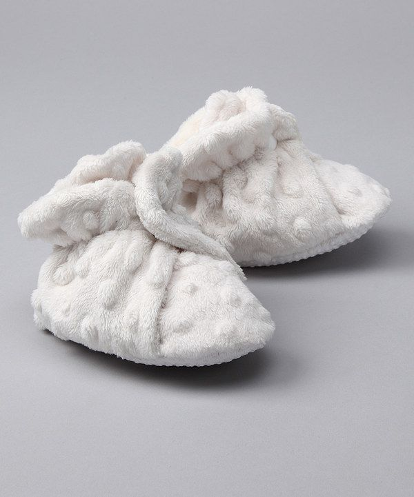 Take a look at this Ivory Minky Booties on zulily today!-I want these for livvie!!