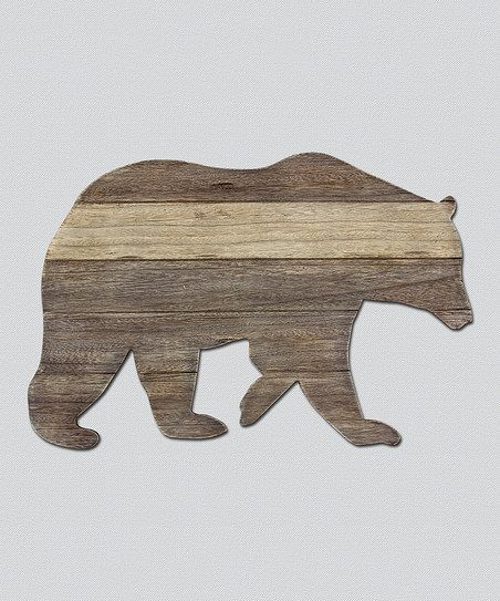 Lend A Rustic Touch To A Little Man S Space With This Bear Cutout