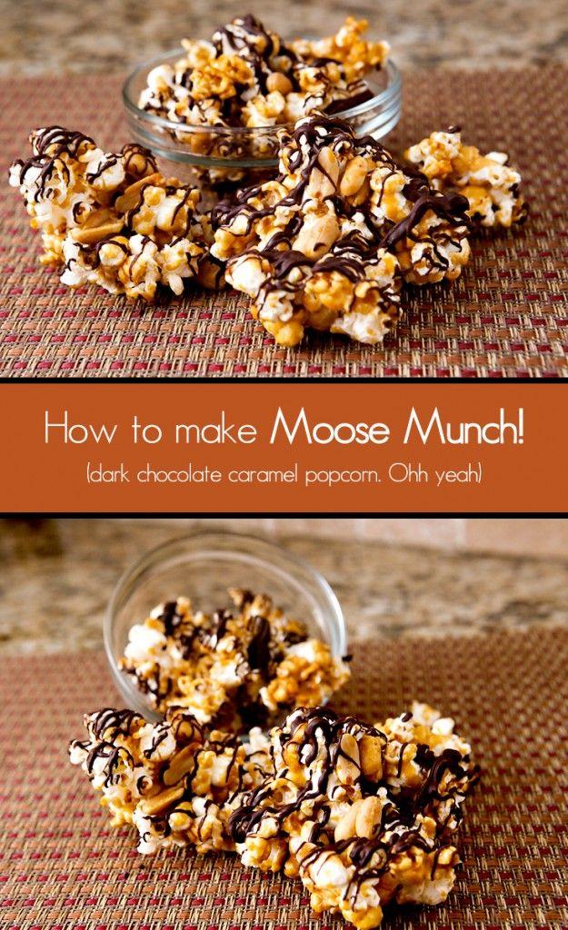 Dark Chocolate Caramel Popcorn (Moose Munch Copycat