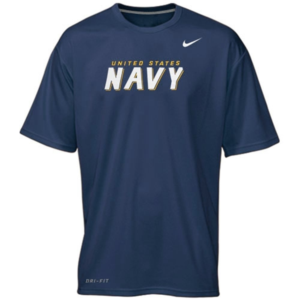 Navy Midshipmen Nike Mllitary Legend Performance T Shirt Navy Blue Navy Midshipmen Shirts Midshipmen [ 1000 x 1000 Pixel ]