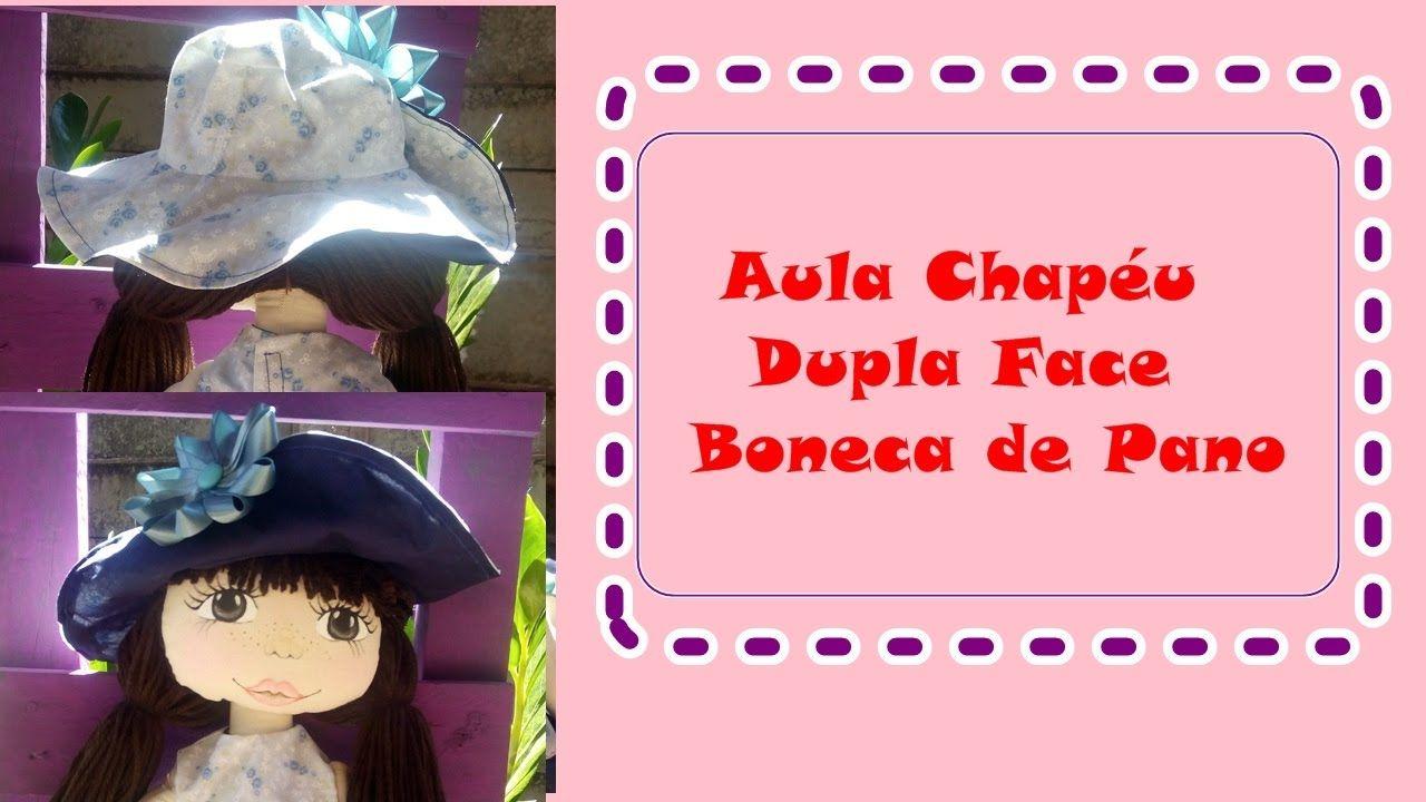 Aula Chapéu dupla face Boneca de pano Heloisa  0c22c500395