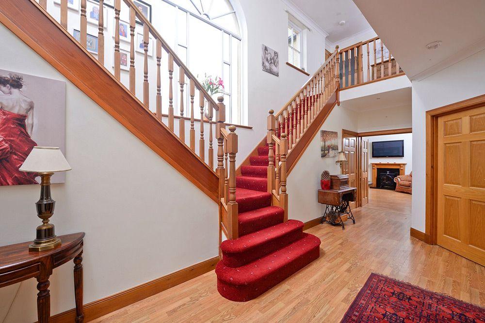 A modern budget bifurcated stairway. Stairs design