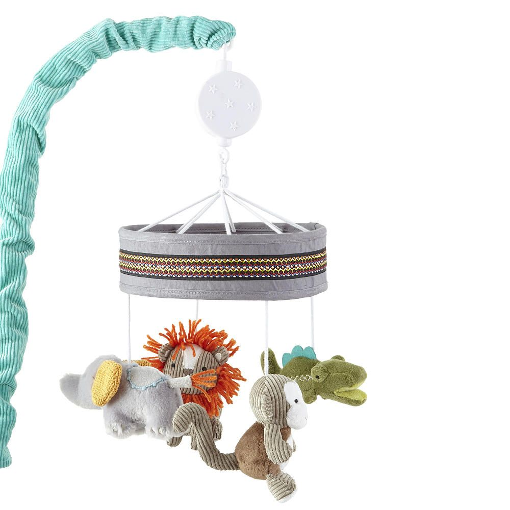 The Levtex Baby Zambezi Mobile Is A Babies R Us Exclusive The Mobile Plays A Series Of Lullabies To Gently Soot Levtex Baby Baby Musical Mobile Musical Mobile