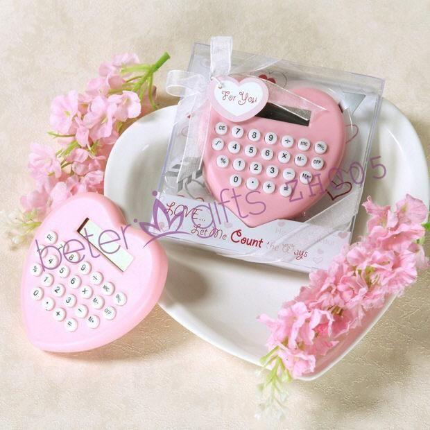 Love Let Me Count The Ways Heart Shaped Calculator Add An Extra Measure Of Heartfelt Emotion M Baby Shower Favors Bachelorette Crafts Wedding Party Favors