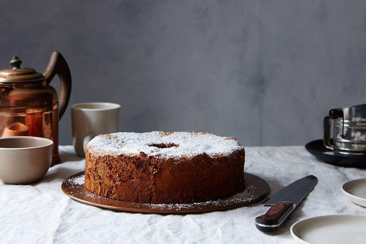 Passover chocolate nut sponge cake recipe on food52
