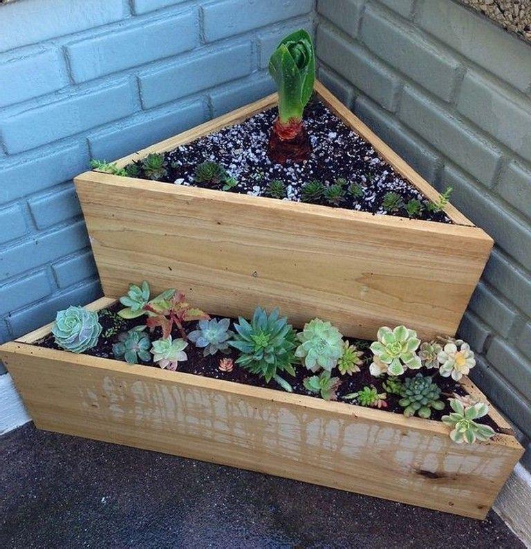 51 Stunning Wooden Garden Planters Ideas Try Wooden Garden