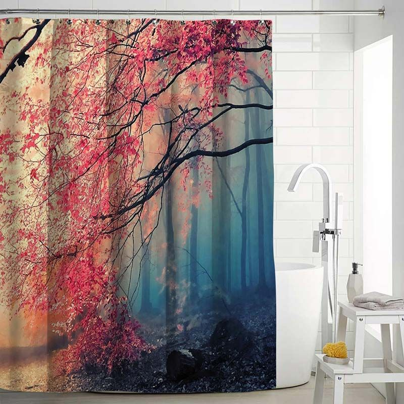 Aesthetical Landscape Shower Curtain 3d Digital Printed Bath