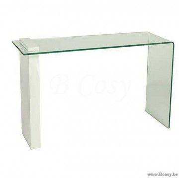 """PR Interiors Parma glazen console-wandtafel met wit hout 160<span style=""""font-size: 0.01pt;""""> PR-Rogiers-Home-Interiors-CSW/018 console-wandtafel-table-de-drapier-table-murale-tables-de-drapier-tables-murales-wandtafel-wandtafels-co </span>"""
