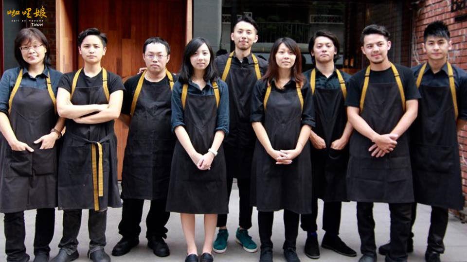 #curry #Taiwan #Taipei #staff #group #photo #delicious #咖哩娘 #咖哩飯 #咖哩 #diner #restaurant #work #service #waiter #waitress #chef