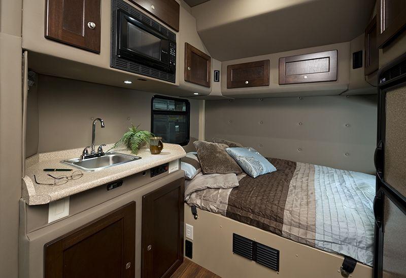 Custom sleeper interiors bolt sleeper interior photos big rigs trucks custom trucks for Custom semi truck sleeper interior