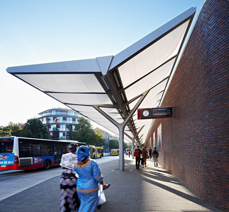 Bus Station Hamburg-Barmbek u2013 Membrane canopy of inflated ETFE foil cushions -  & Bus Station Hamburg-Barmbek u2013 Membrane canopy of inflated ETFE ...