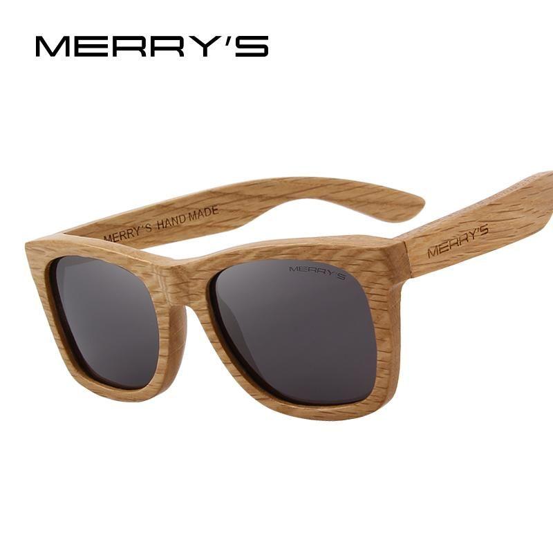 a179c3f20a09d MERRY S DESIGN Men Women Wooden Sunglasses Retro Polarized Sun Glasses HAND  MADE 100% UV Protection S 5140