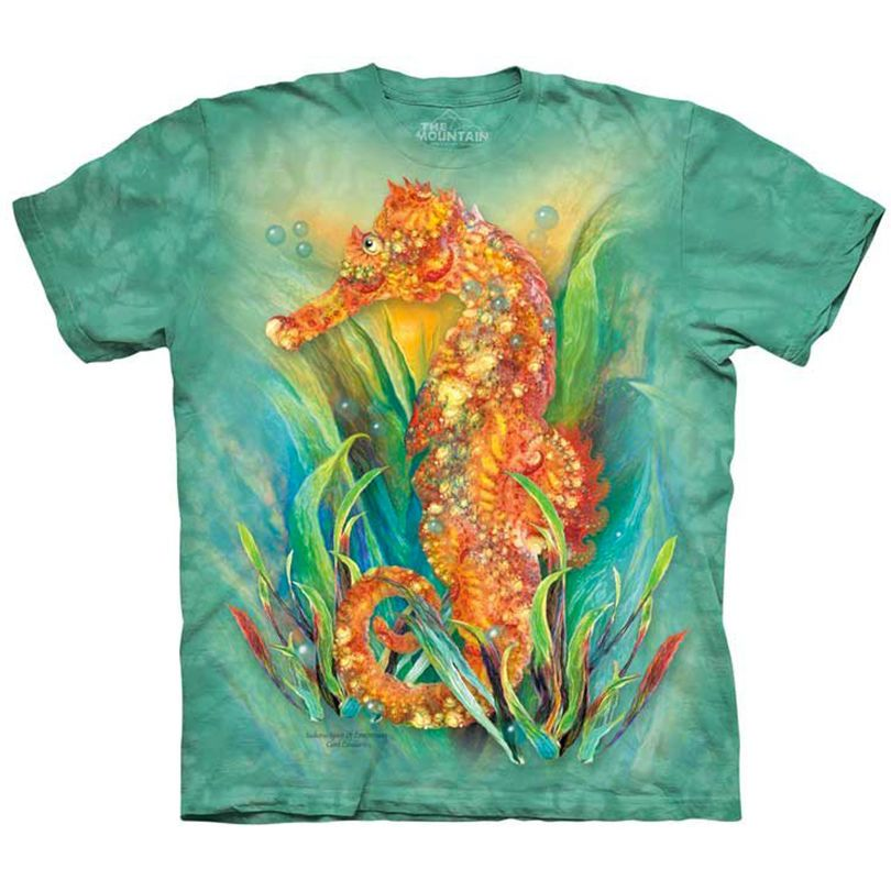 4195b553d The Mountain SEAHORSE T-Shirt Underwater Sea Horse Marine Life Art S-5XL  NEW! #TheMountain #GraphicTee #seahorse #seahorses #graphictee