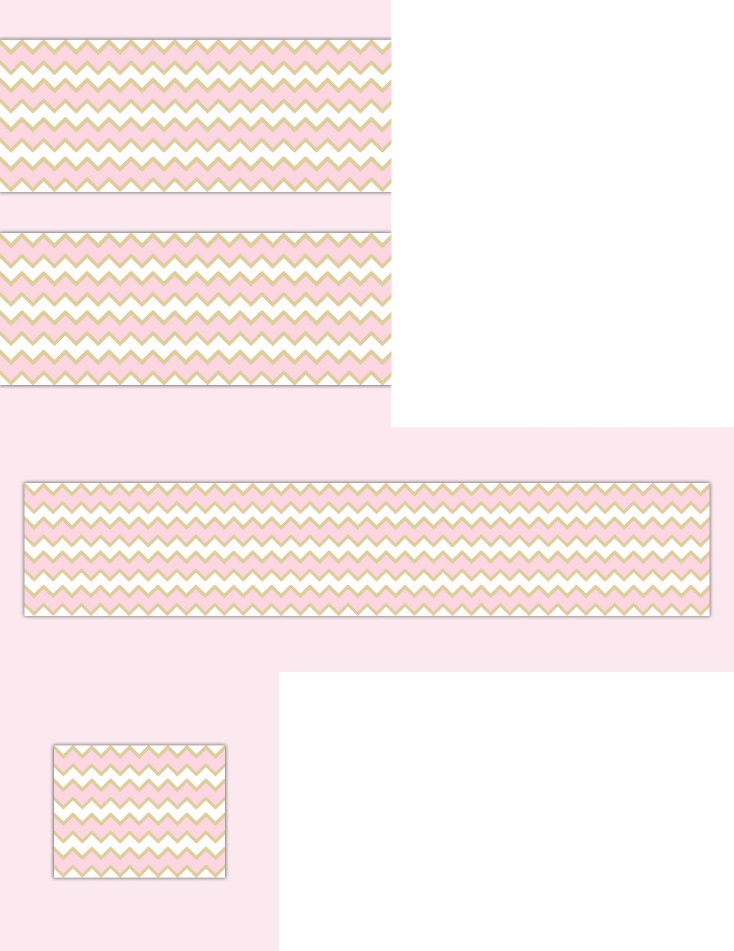Wallpaper Borders 37636 Pink Gold Chevron Border
