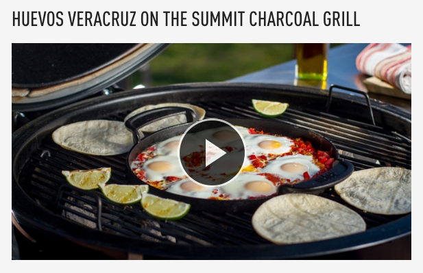 Weber Summit Charcoal Holzkohlegrill : Huevos veracruz on the summit charcoal grill article at: http: www