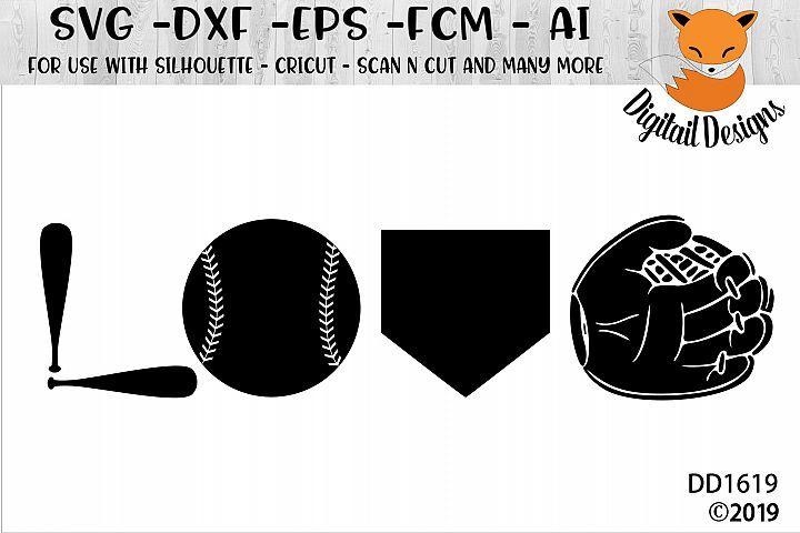 Download Baseball Love SVG - Silhouette - Cricut | Cricut, Svg ...