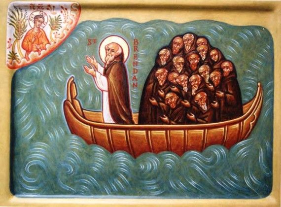 Saint Brendan Of Clonfert Also Known As The Navigator Lived In Ireland As A Saint He Is The Subject Of Hagi St Brendan Brendan The Navigator Catholic Memes