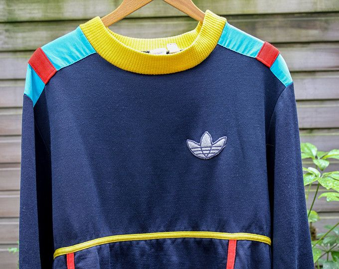 1973 Rare Vintage Adidas Sweat shirt Made In France, Sweater