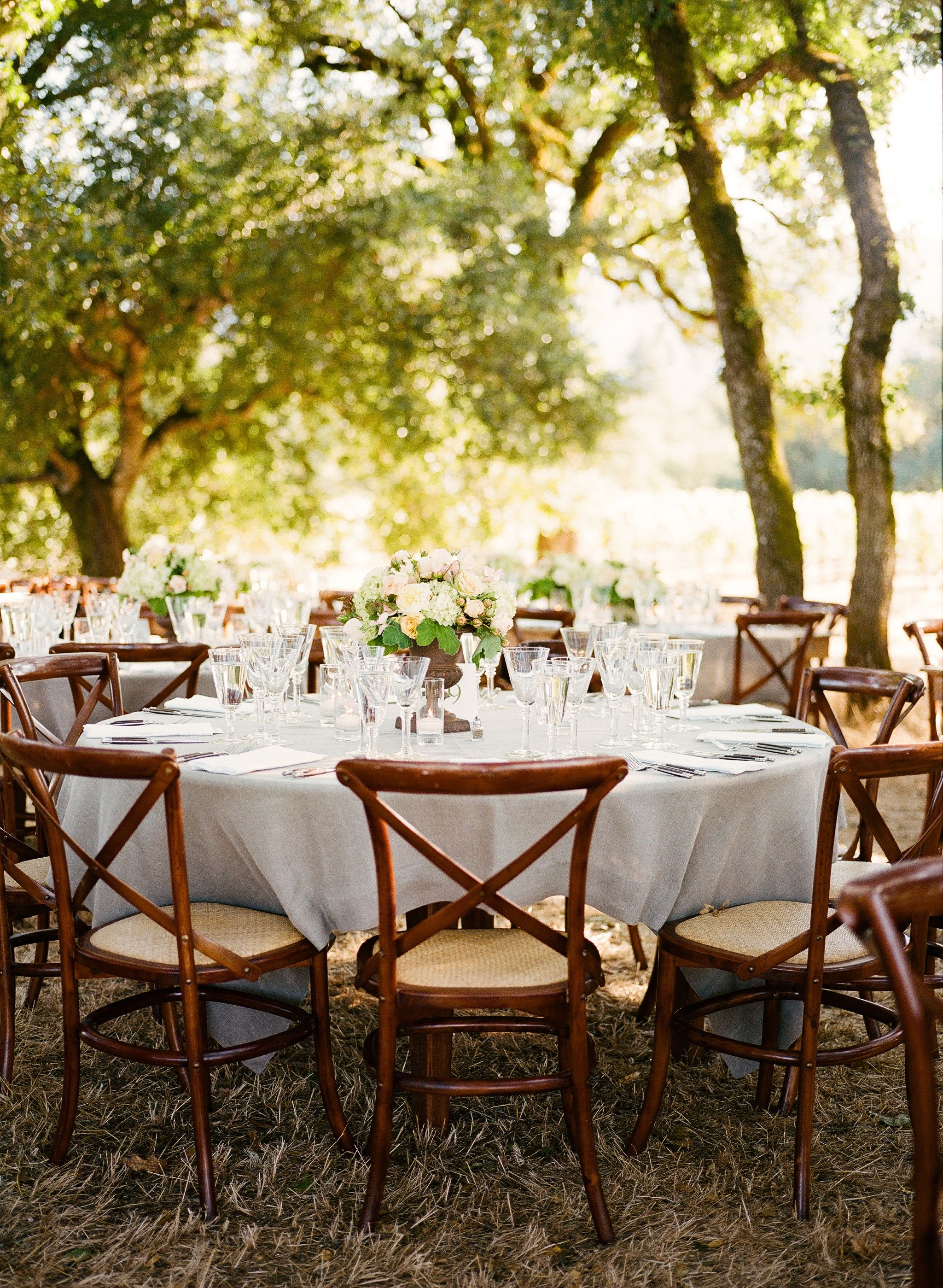 Wooden French Country Chairs Meg Smith Photography