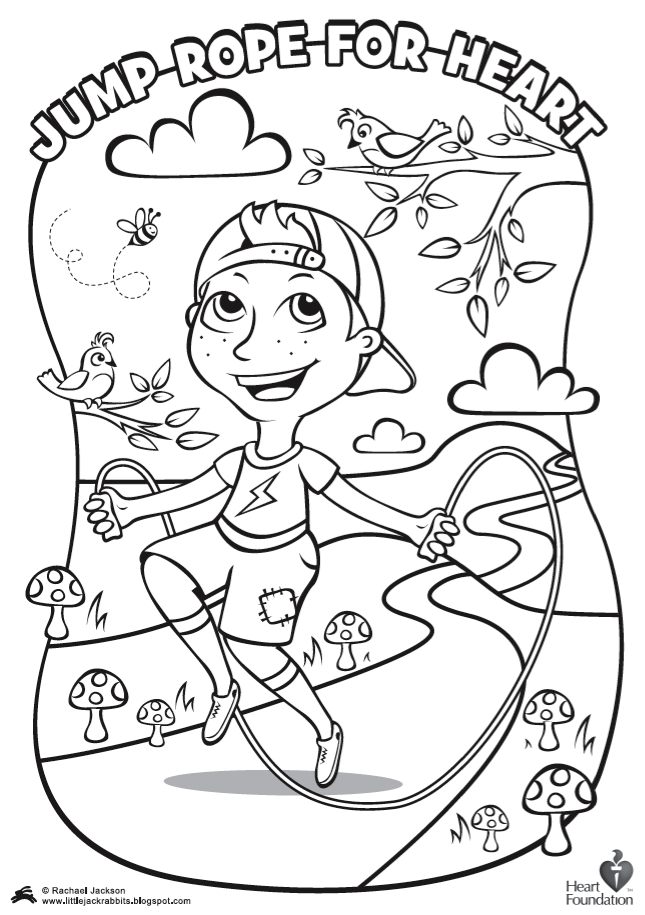 Jump Rope Coloring Pages Download And Print For Free Preschool Coloring Pages Coloring Pages Heart Coloring Pages
