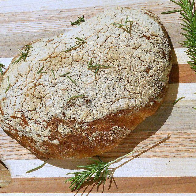 Rosemary Whole Wheat Ciabatta made w/The Beloved's home brew. Yum!