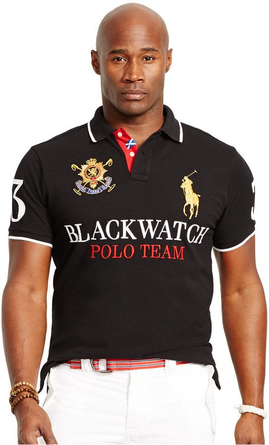 Polo Ralph Lauren Big and Tall Black Watch Classic-Fit Polo Shirt ... e019fd0b7ba