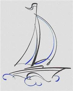 How To Draw A Sailboat Sailboat Drawing Sailboat Art Sailboat