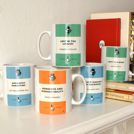 Penguin Book Cover Coffee Mugs : Personalised book cover mug how would i ever pick what to