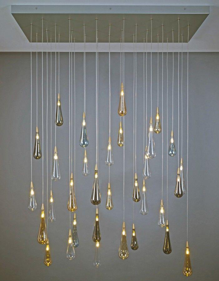 Raindrop Shakuff Blown Glass Pendant Light Ethereal