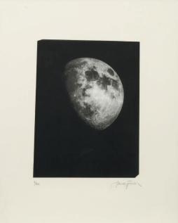 JAMES TURRELL (NÉ EN 1943) Sun&Moon Space, Image Stone, Full Moon, Gibbous Moon, Quarter moon, Cresent Moon, 1999 Série de six gravures. Aquatinte d'après photographie. Chacune signée et numérotée. Edition à 40 exemplaires.
