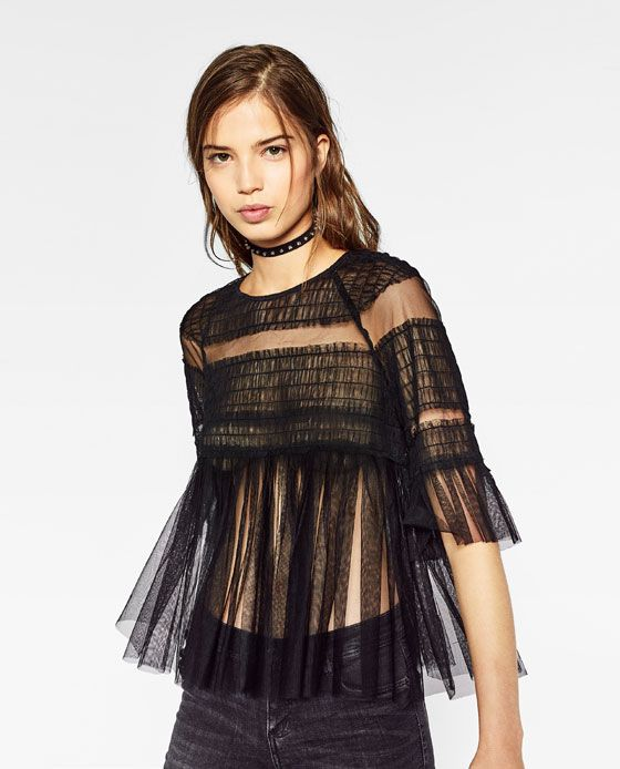 9ea3ad51ce Image 4 of FRILLY TULLE TOP from Zara