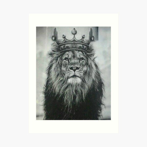 Lion with crown Art Print