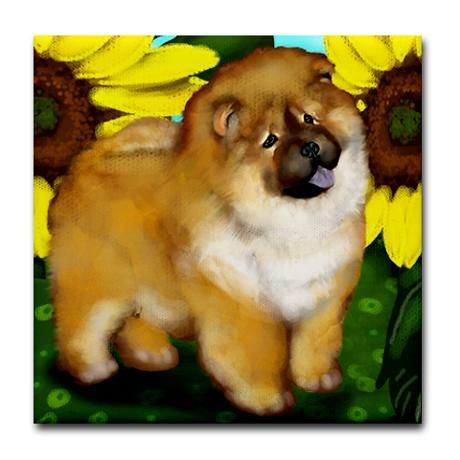 Chow Chow Dog Tile Coaster By Eva Designs Chow Chow Dogs Dogs