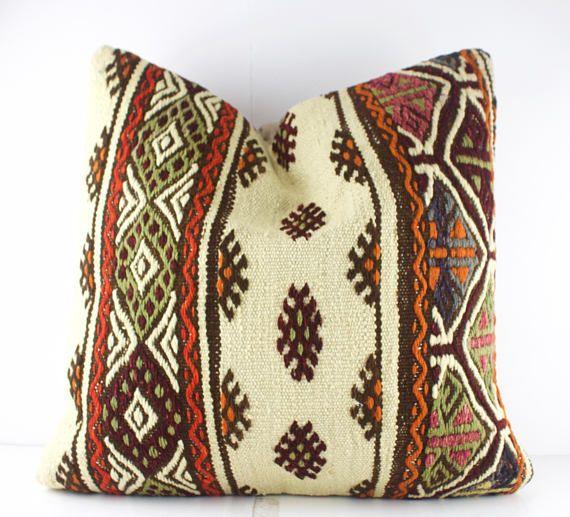 Kilim Pillow Kilim Pillows 20x20 Kilim Pillow Cover Decorative