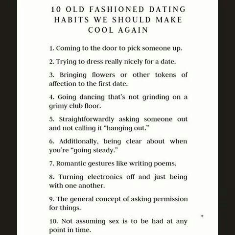Old fashioned courting rules