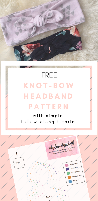 DIY Knotted Headband Tutorial + FREE Pattern | Pequeñitos ...