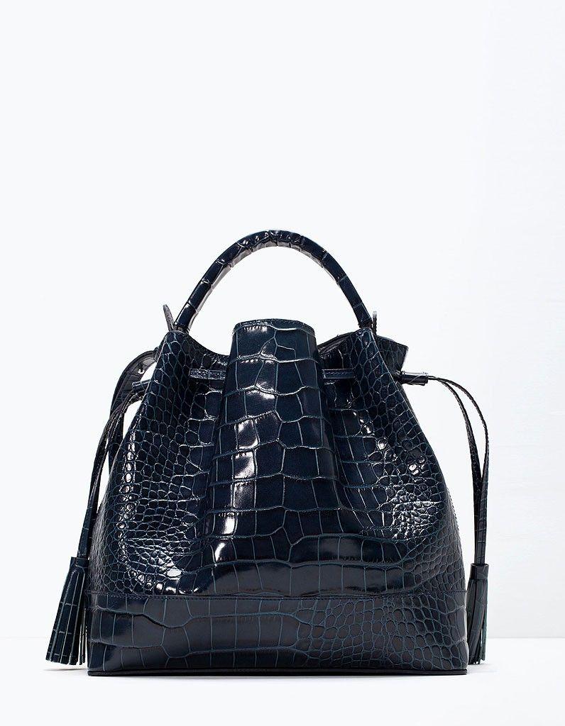 amazing price latest discount official Sac seau Zara | Sacs | Sac seau, Sac croco et Sac