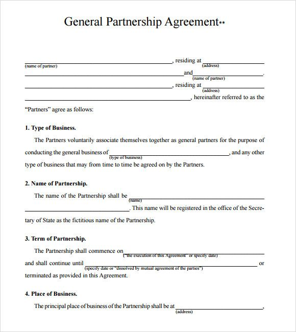 Business Partnership Agreement Template Check more at