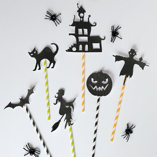 Get those flashlights ready for some Halloween shadow puppet theater - free halloween decorations printable