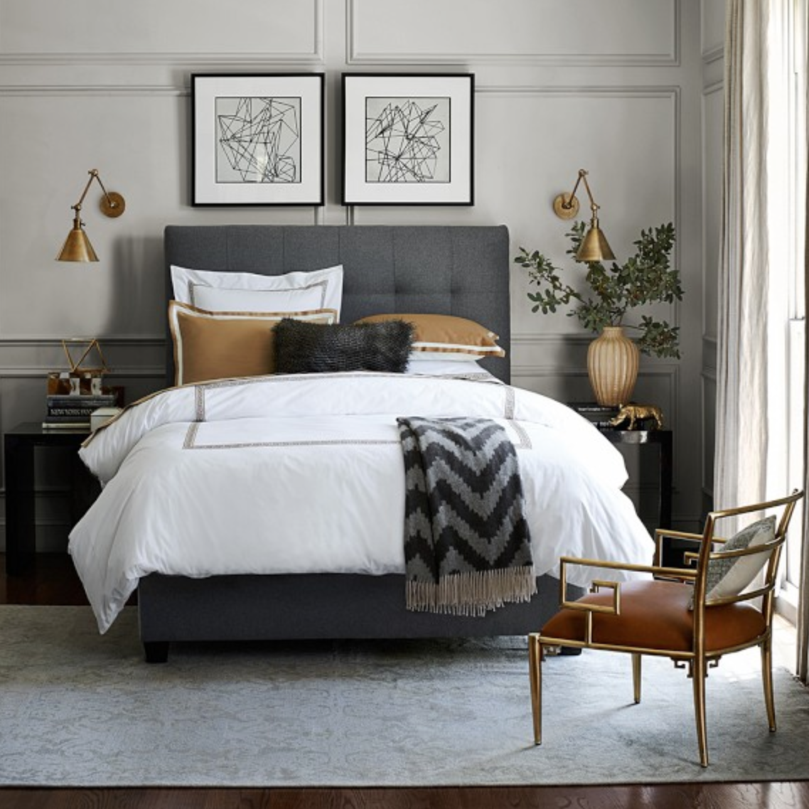 Williams Sonoma Home Traditional Bedroom Sconces Bedroom Home