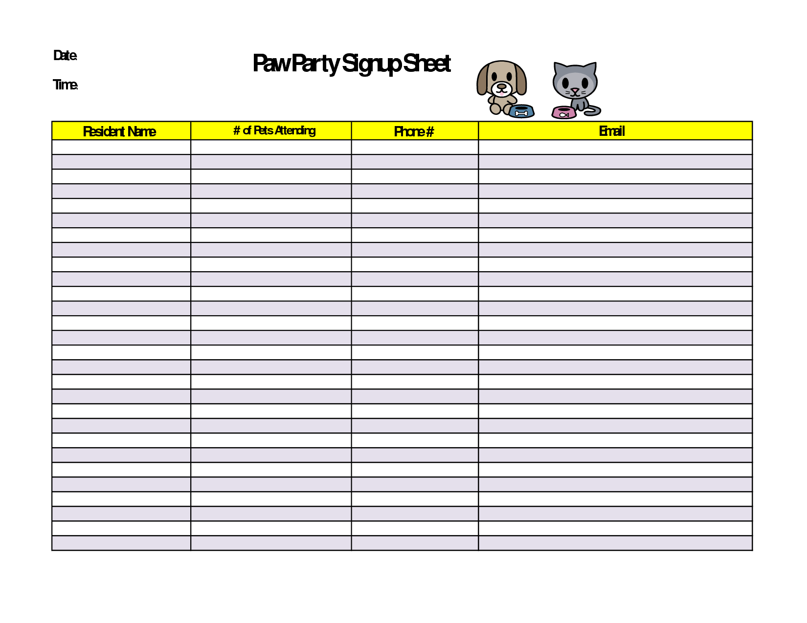 Printable Sign Up Sheet Bing Images Sign Up Sheets Sign