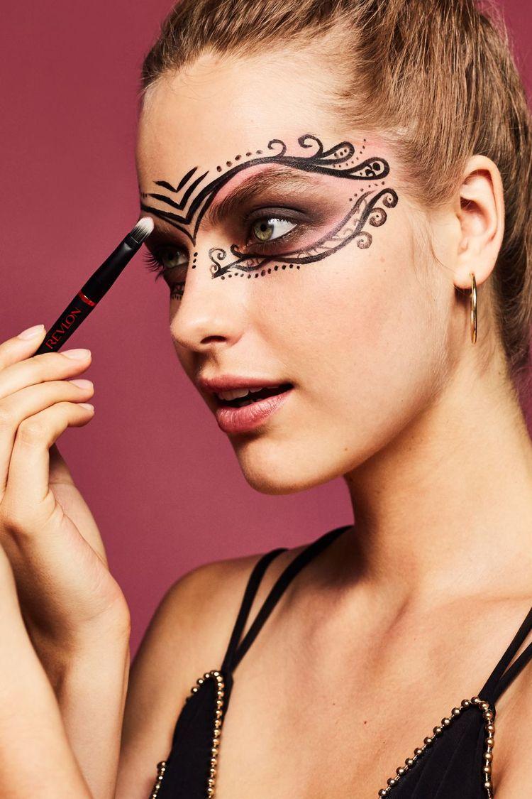 Karneval Maske Schminken 3 Ideen Mit Anleitung Karneval Maske