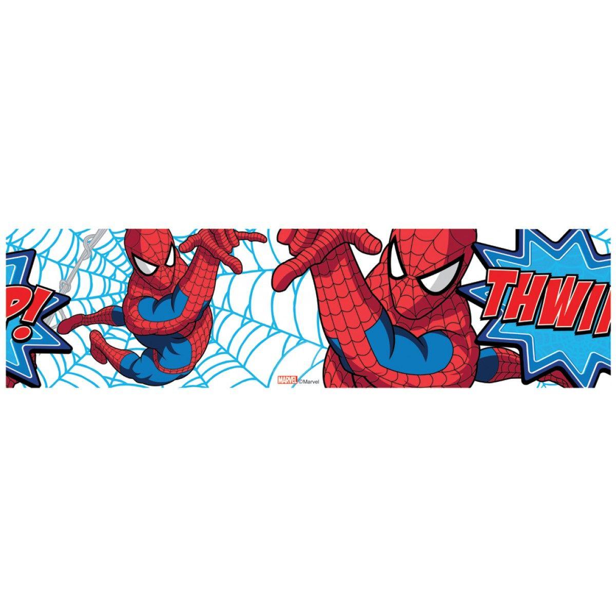 Spiderman Thwip Self Adhesive Wallpaper Border Wallpaper