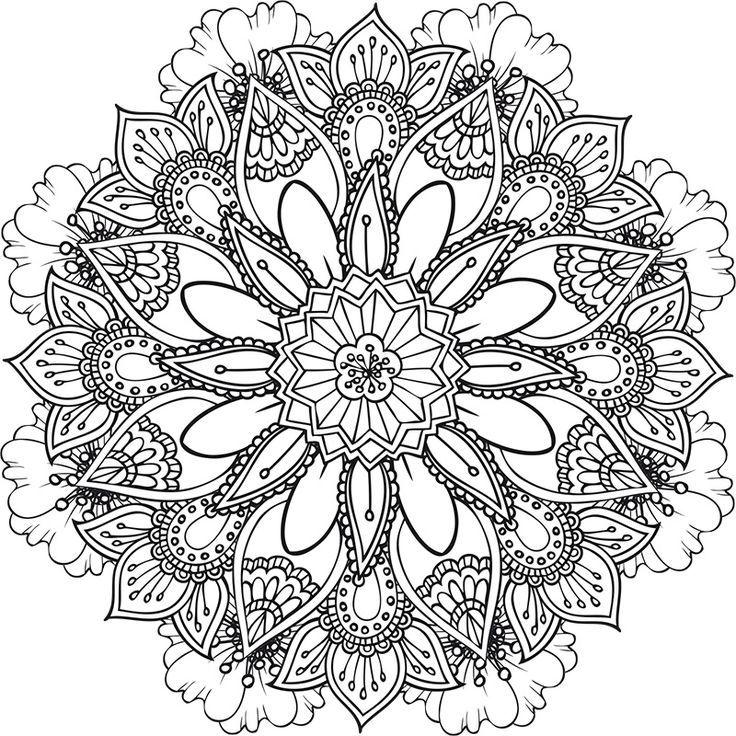 coloriage-a-imprimer-mandala-43 #mandala #coloriage #adulte via dessin2mandala.com   Dessin de ...