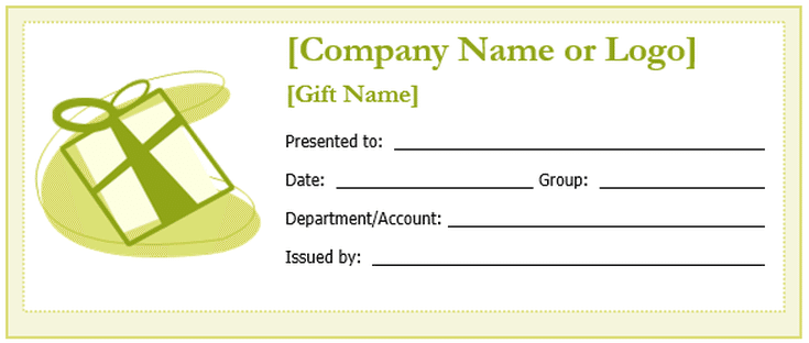 free gift certificate templates you can customize gift