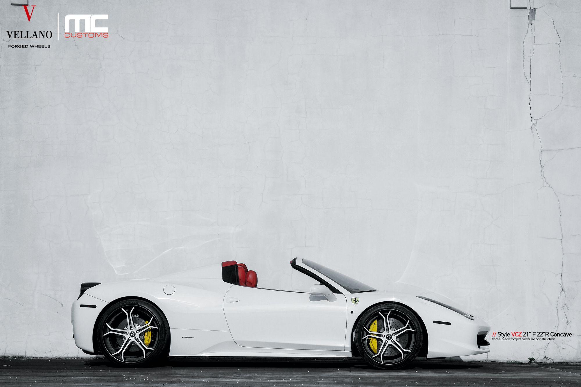 "Stunning Ferrari 458 | Vellano VCZ 21"" F 22"" R Concave Three piece forged wheels"