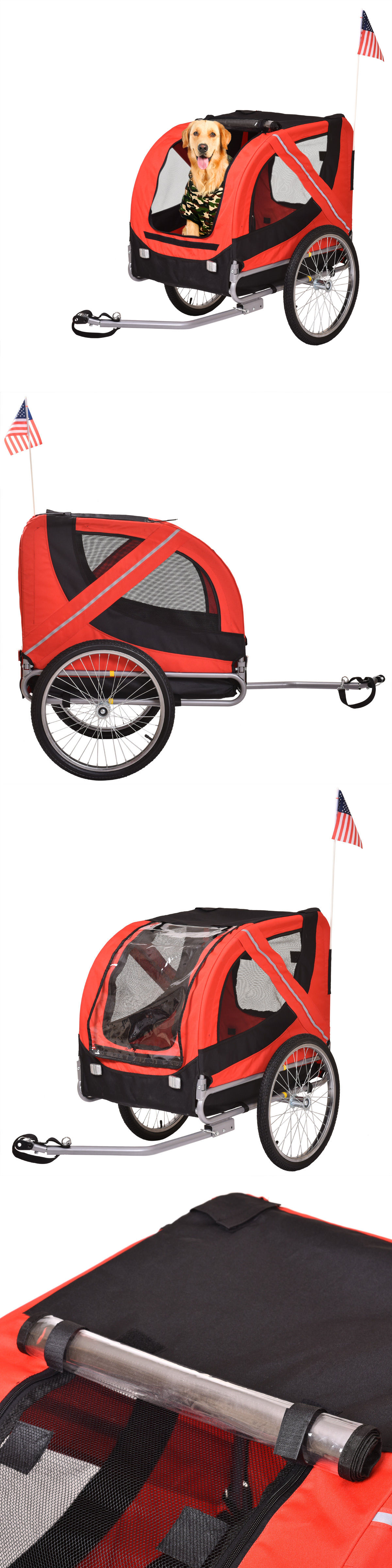 Strollers folding pet carrier dog cat bike trailer bicycle