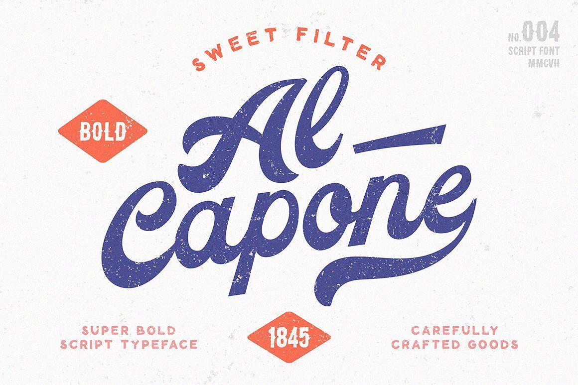 Volkschaft Lettering Vintage Script Fonts Baseball Font